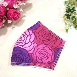 【花楽堂オリジナル】マスク 布マスク 彩薔薇 手ぬぐい 呉服屋の上質晒マスク 手作り 日本製