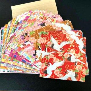 和紙工芸品 kimono美 和紙千代紙 華 100枚入り 豪華桐箱入り