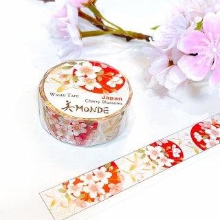 和紙マスキングテープ 美Monde 世界の花と伝統文様 日本「桜」