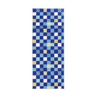 【京都くろちく】 日本手ぬぐい 市松小紋 ブルー