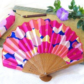 婦人用布扇子 NATTI扇子 PEONY ピオニー 扇子・扇子袋セット 女性用扇子
