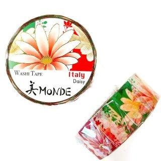 和紙マスキングテープ 美Monde 世界の花と伝統文様 イタリア デイジー  Italy Daisy