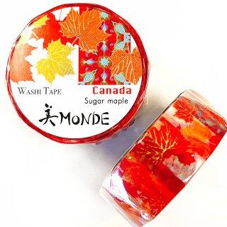 和紙マスキングテープ 美Monde 世界の花と伝統文様 カナダ サトウカエデ Canada Sugar Maple