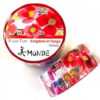 和紙マスキングテープ 美Monde 世界の花と伝統文様 トンガ ヘイララ Kingdom of Tonga  Heilala