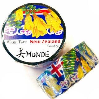 和紙マスキングテープ 美Monde 世界の花と伝統文様 ニュージーランド コファイ New Zealand Kowhai