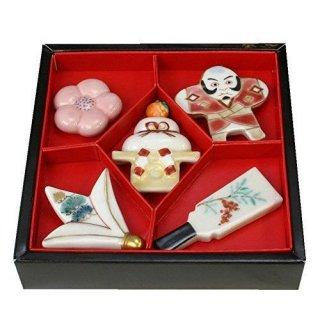 【お正月和雑貨】京焼 京のお正月 箸置きセット