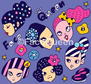 Kimonoガールズ ファブリックPurple<br>50cm × 50cm〜<br>