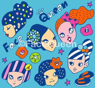 Kimonoガールズ ファブリックBlue<br>50cm × 50cm〜<br>