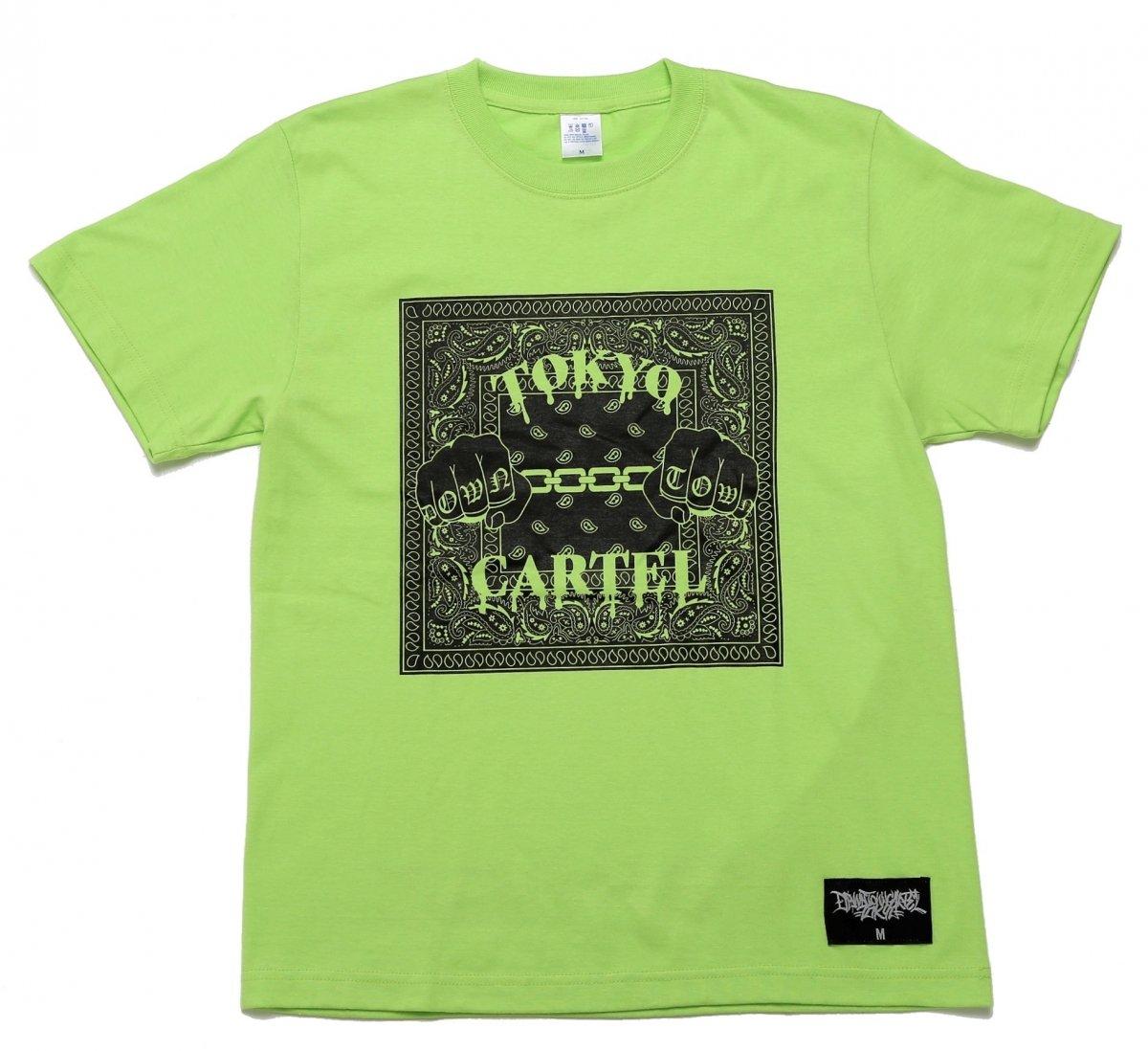 TOKYO CARTEL PAISLEY NEON GREEN TEE