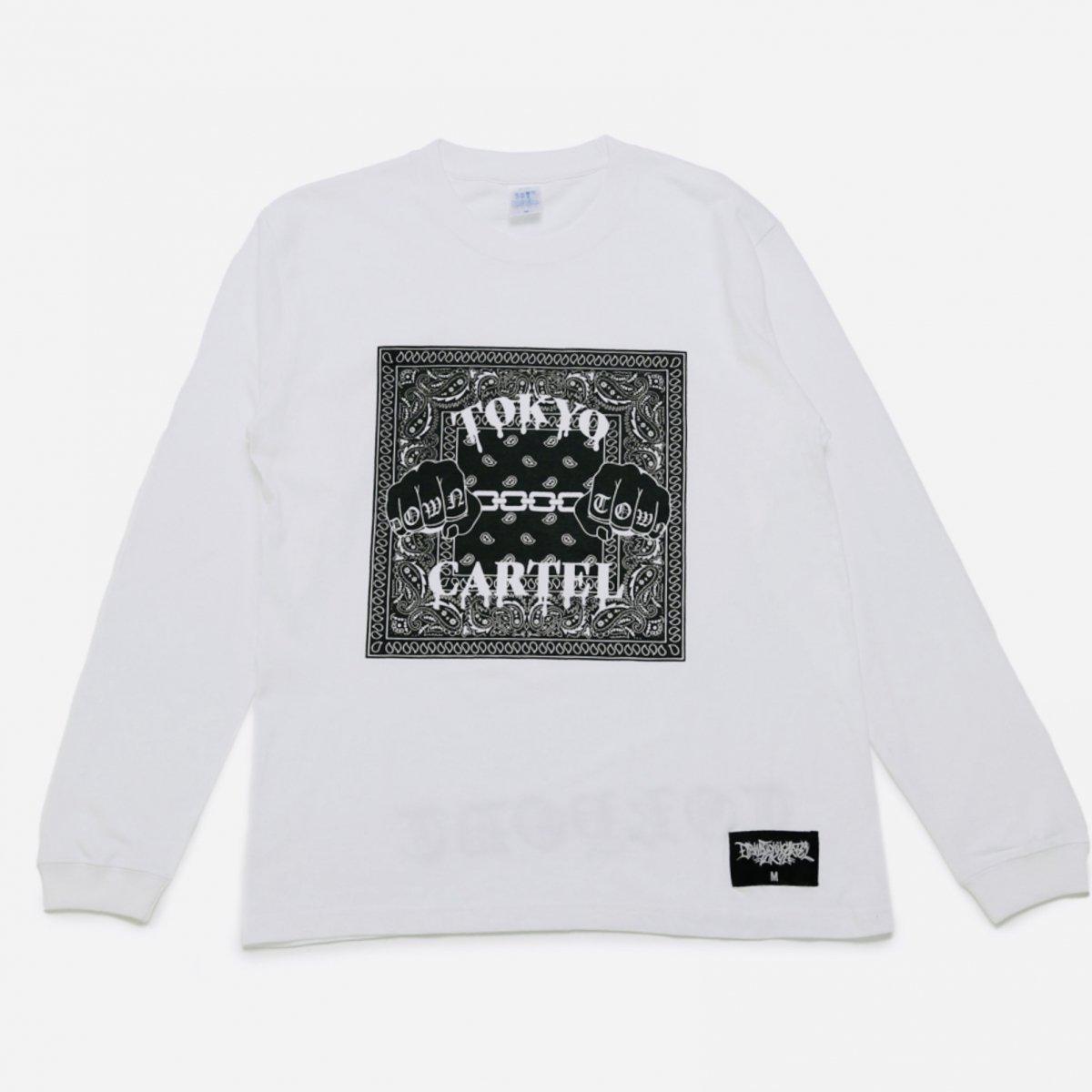 TOKYO CARTEL PAISLEY LS WHITE