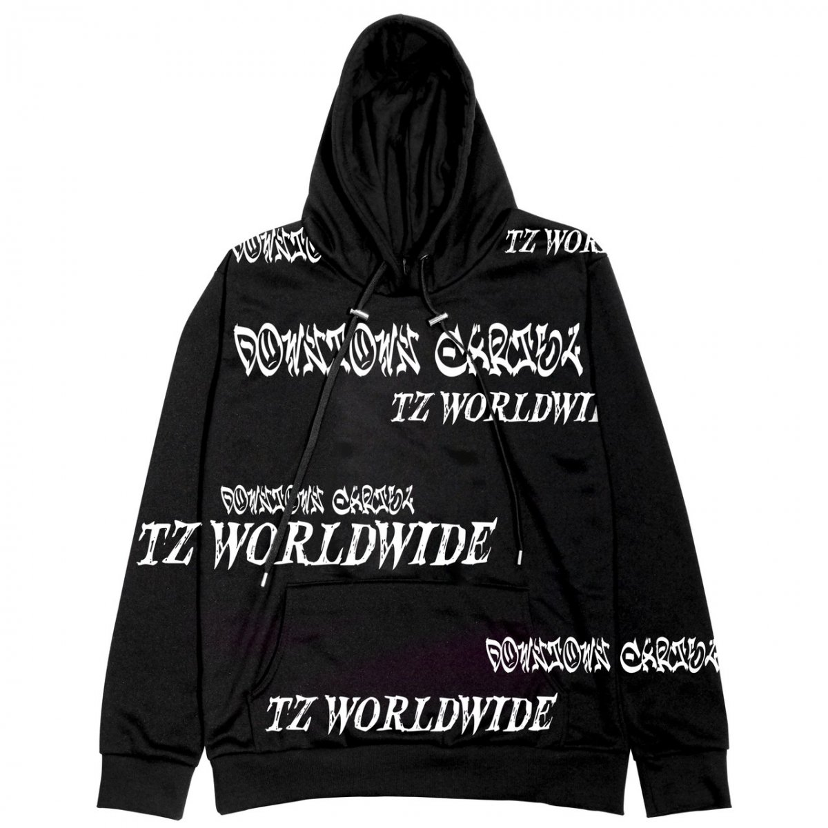 DOWNTOWN CARTEL×TZ Worldwide Collaboration Hoodie