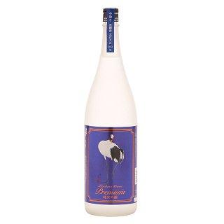 [お取り寄せ]越の鶴 プレミアム純米吟醸 中取り<br>【1800ml】