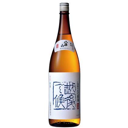 八海山 しぼりたて原酒 越後で候(青)<br>【1800ml】