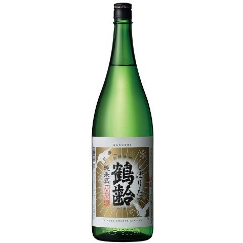 鶴齢 純米酒 しぼりたて<br>【1800ml】