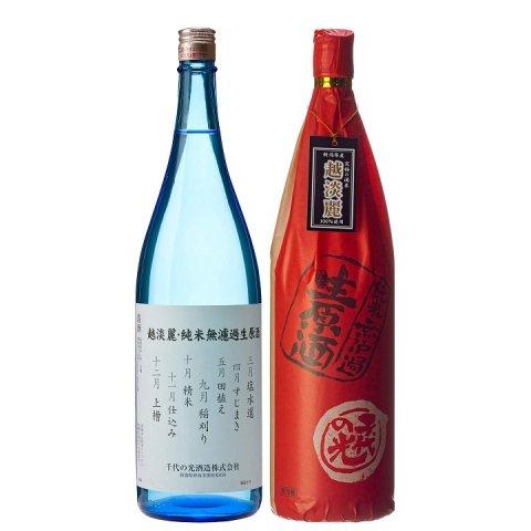 千代の光 越淡麗 純米無濾過生原酒<br>【1800ml】