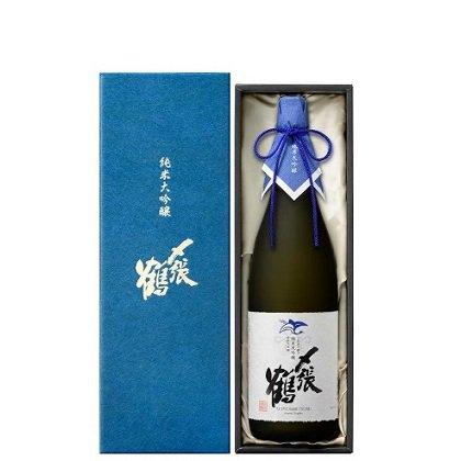 [受注生産 ご予約受付中]〆張鶴 純米大吟醸 BLUE LABEL 袋取り雫酒≪化粧箱入り≫<br>【720ml】