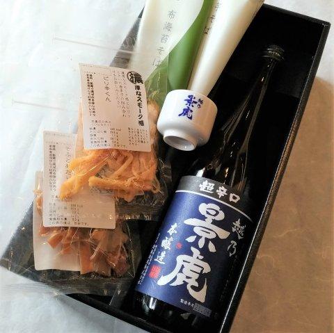 新潟酒肴 銘柄選べる日本酒とおつまみ&お蕎麦&おちょこセット<br>【720ml】