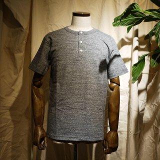 【RIDING HIGH】吊り編みヘンリーネックTシャツ/チャコールグレー