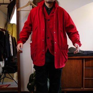 【SASSAFRAS/ササフラス】Over Grown Coat -Red-/オーバーグロウンコート-レッド-