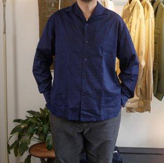 <img class='new_mark_img1' src='https://img.shop-pro.jp/img/new/icons15.gif' style='border:none;display:inline;margin:0px;padding:0px;width:auto;' />【SOWBOW】ONE PIECE  collar  shirts(Indigo)/蒼氓-ソウボウ-ワンピースカラーシャツ(インディゴ染め)