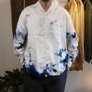 <img class='new_mark_img1' src='https://img.shop-pro.jp/img/new/icons15.gif' style='border:none;display:inline;margin:0px;padding:0px;width:auto;' />【SOWBOW】ONE PIECE  collar  shirts(Indigo Tie-Dye)/蒼氓-ソウボウ-ワンピースカラーシャツ(インディゴ絞り染め)
