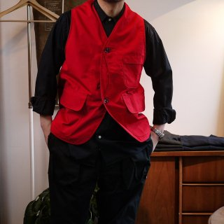 <img class='new_mark_img1' src='https://img.shop-pro.jp/img/new/icons15.gif' style='border:none;display:inline;margin:0px;padding:0px;width:auto;' />【SASSAFRAS】Garden Tough Vest(Red)/ササフラス-ガーデン タフベスト-