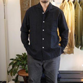 <img class='new_mark_img1' src='https://img.shop-pro.jp/img/new/icons15.gif' style='border:none;display:inline;margin:0px;padding:0px;width:auto;' />【SOWBOW】ONE PIECE  collar  shirts(kurume kasuri)/蒼氓-ソウボウ-ワンピースカラーシャツ(久留米 絣(かすり))