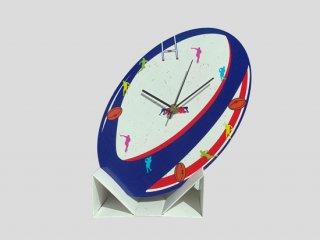ラグビーボール型時計