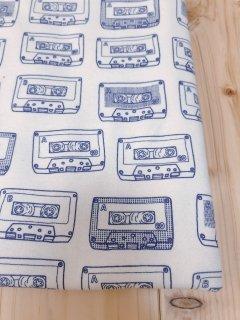 カセットテープ(インクブルー)☆40/ミニ裏毛☆オーダーカット