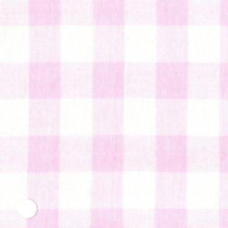ピンクインチチェックダブルガーゼ