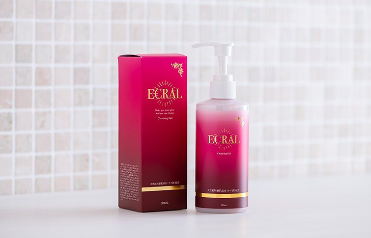 クレンジングゲル<small>(ゲル洗顔料)</small><br>ECRAL Cleansing Gel<small> (face cleansing gel)</small>