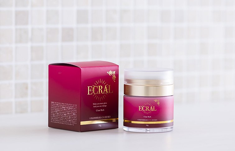 クリアリッチ<small>(ゲルクリーム)</small><br>ECRAL Clear Rich<small>(moisturizing gel cream) </small>