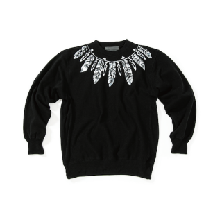 <img class='new_mark_img1' src='https://img.shop-pro.jp/img/new/icons23.gif' style='border:none;display:inline;margin:0px;padding:0px;width:auto;' />Feather Paint Sweatshirt