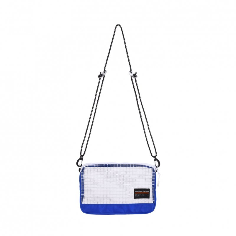 CLEAR PVC POUCH / BLUE