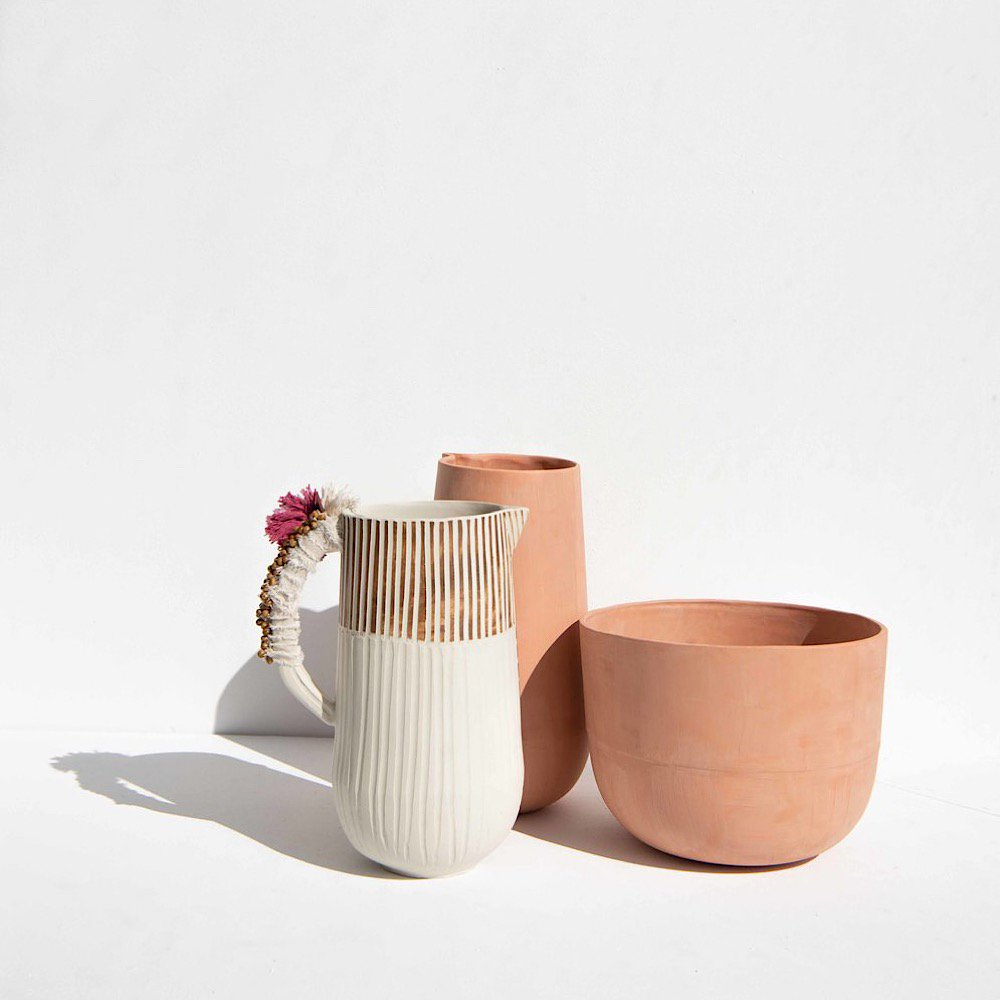 Anna Westerlund<br>terracota tall jug