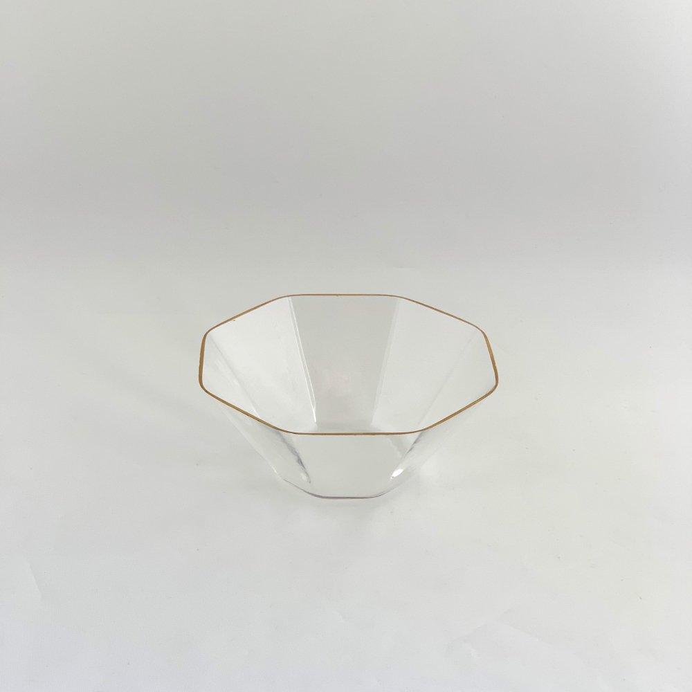 谷口 嘉<br>金縁 八角小鉢