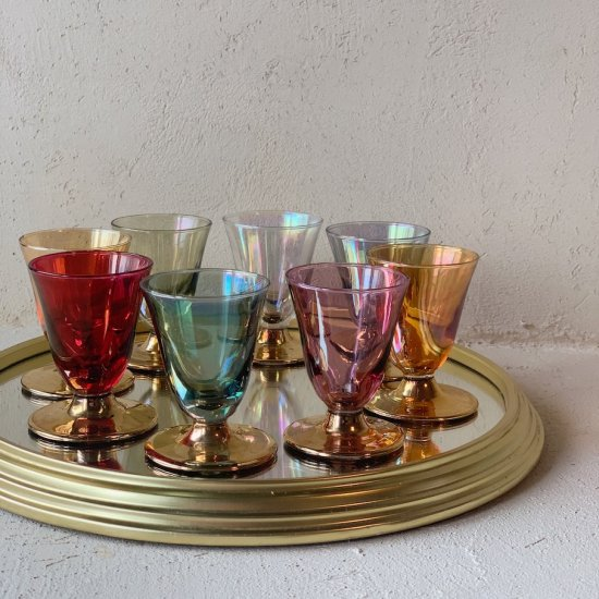 Vintage Liqueur glass and plate set<img class='new_mark_img2' src='https://img.shop-pro.jp/img/new/icons47.gif' style='border:none;display:inline;margin:0px;padding:0px;width:auto;' />
