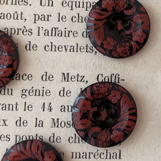 French botanical button