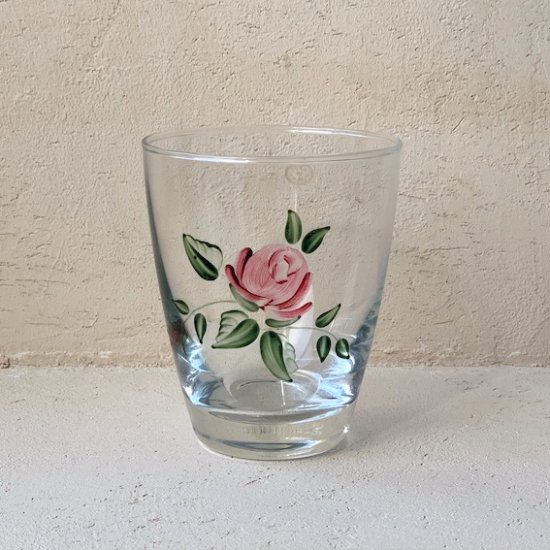 Vintage glass rose.c