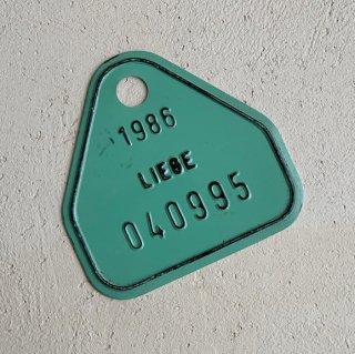 Vintage number plate.e
