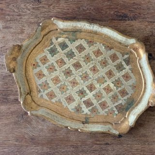 Antique wood tray.b