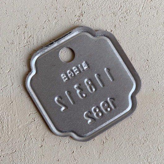 Vintage number plate.a