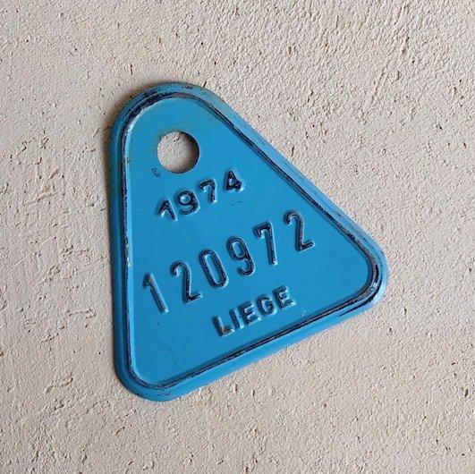 Vintage number plate.b