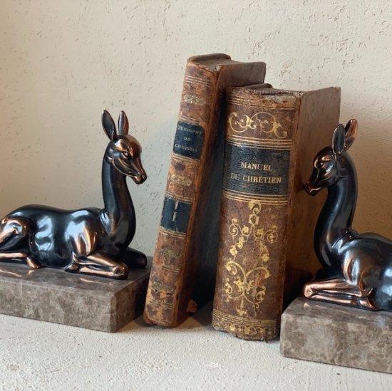 Antique bookend set