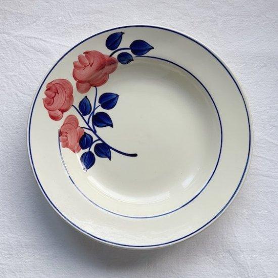 HBCM Antique flower plate.a