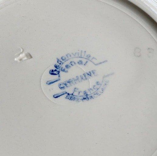 Badonviller germaine plate