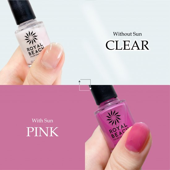 ROYAL BEACH<br>ロイヤルビーチ<br>カラーチェンジ<br>ネイル<br>CLEAR⇔PINK<br>C-02<br>【送料無料】