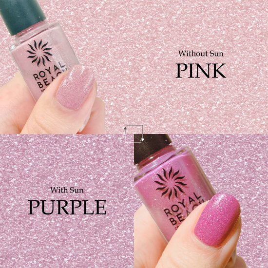 ROYAL BEACH<br>ロイヤルビーチ<br>カラーチェンジ<br>ネイル<br>LIMITED COLOR★ラメ★<br>PINK⇔PURPLE<br>C-14<br>【送料無料】