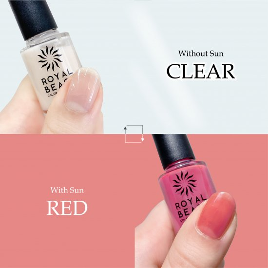 ROYAL BEACH<br>ロイヤルビーチ<br>カラーチェンジ<br>ネイル<br>CLEAR⇔RED<br>C-01<br>【送料無料】