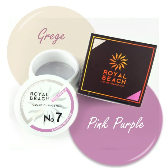 ROYAL BEACH<br>ロイヤルビーチ<br>カラーチェンジ<br>ジェルネイル<br>GREGE⇔PINK<br>No7<br>【送料無料】<img class='new_mark_img2' src='https://img.shop-pro.jp/img/new/icons20.gif' style='border:none;display:inline;margin:0px;padding:0px;width:auto;' />